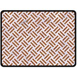 WOVEN2 WHITE MARBLE & RUSTED METAL (R) Double Sided Fleece Blanket (Large)  80 x60 Blanket Front