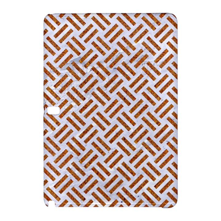 WOVEN2 WHITE MARBLE & RUSTED METAL (R) Samsung Galaxy Tab Pro 12.2 Hardshell Case