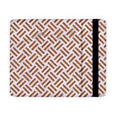 Woven2 White Marble & Rusted Metal (r) Samsung Galaxy Tab Pro 8 4  Flip Case