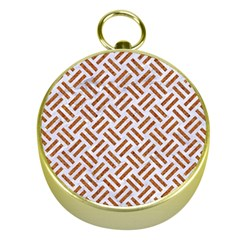 WOVEN2 WHITE MARBLE & RUSTED METAL (R) Gold Compasses
