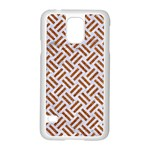 WOVEN2 WHITE MARBLE & RUSTED METAL (R) Samsung Galaxy S5 Case (White) Front