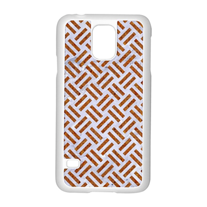 WOVEN2 WHITE MARBLE & RUSTED METAL (R) Samsung Galaxy S5 Case (White)