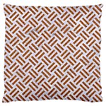 WOVEN2 WHITE MARBLE & RUSTED METAL (R) Standard Flano Cushion Case (Two Sides) Back