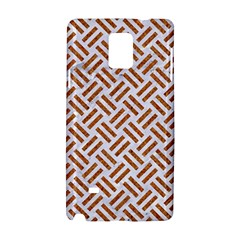 Woven2 White Marble & Rusted Metal (r) Samsung Galaxy Note 4 Hardshell Case by trendistuff