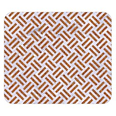WOVEN2 WHITE MARBLE & RUSTED METAL (R) Double Sided Flano Blanket (Small)