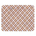 WOVEN2 WHITE MARBLE & RUSTED METAL (R) Double Sided Flano Blanket (Large)  80 x60 Blanket Front