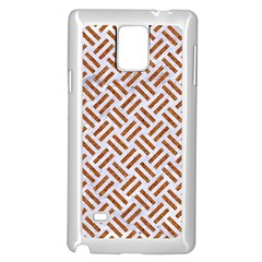 Woven2 White Marble & Rusted Metal (r) Samsung Galaxy Note 4 Case (white)