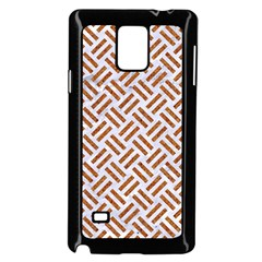 WOVEN2 WHITE MARBLE & RUSTED METAL (R) Samsung Galaxy Note 4 Case (Black)