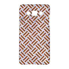 WOVEN2 WHITE MARBLE & RUSTED METAL (R) Samsung Galaxy A5 Hardshell Case