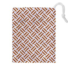 WOVEN2 WHITE MARBLE & RUSTED METAL (R) Drawstring Pouches (XXL)