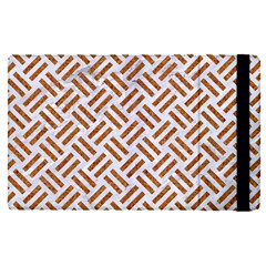 Woven2 White Marble & Rusted Metal (r) Apple Ipad Pro 12 9   Flip Case