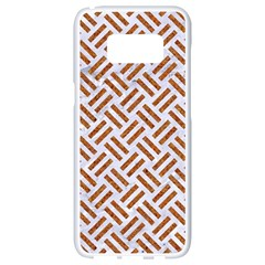 Woven2 White Marble & Rusted Metal (r) Samsung Galaxy S8 White Seamless Case