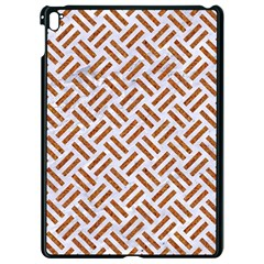 Woven2 White Marble & Rusted Metal (r) Apple Ipad Pro 9 7   Black Seamless Case