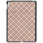 WOVEN2 WHITE MARBLE & RUSTED METAL (R) Apple iPad Pro 9.7   Black Seamless Case Front