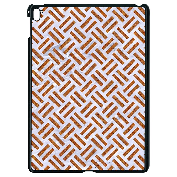 WOVEN2 WHITE MARBLE & RUSTED METAL (R) Apple iPad Pro 9.7   Black Seamless Case