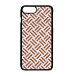 WOVEN2 WHITE MARBLE & RUSTED METAL (R) Apple iPhone 8 Plus Seamless Case (Black) Front
