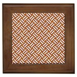 WOVEN2 WHITE MARBLE & RUSTED METAL Framed Tiles Front