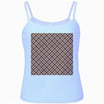 WOVEN2 WHITE MARBLE & RUSTED METAL Baby Blue Spaghetti Tank Front