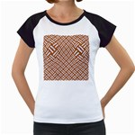 WOVEN2 WHITE MARBLE & RUSTED METAL Women s Cap Sleeve T Front