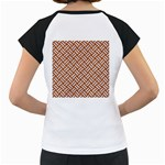 WOVEN2 WHITE MARBLE & RUSTED METAL Women s Cap Sleeve T Back