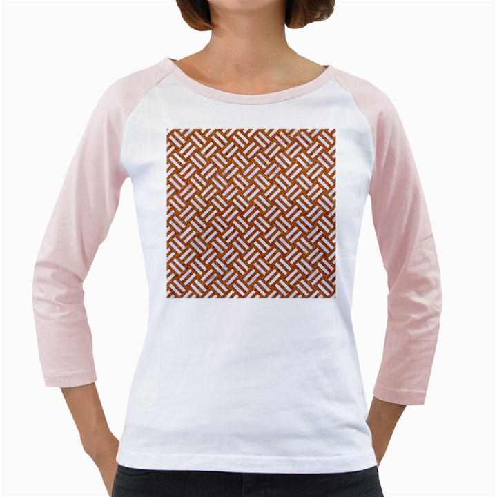 WOVEN2 WHITE MARBLE & RUSTED METAL Girly Raglans