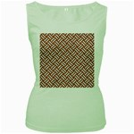 WOVEN2 WHITE MARBLE & RUSTED METAL Women s Green Tank Top Front
