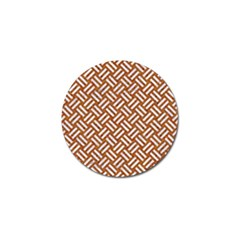 Woven2 White Marble & Rusted Metal Golf Ball Marker