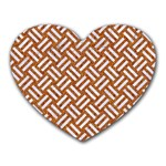 WOVEN2 WHITE MARBLE & RUSTED METAL Heart Mousepads Front