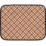 WOVEN2 WHITE MARBLE & RUSTED METAL Fleece Blanket (Mini) 35 x27 Blanket
