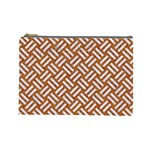 WOVEN2 WHITE MARBLE & RUSTED METAL Cosmetic Bag (Large)  Front