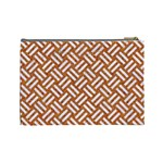 WOVEN2 WHITE MARBLE & RUSTED METAL Cosmetic Bag (Large)  Back