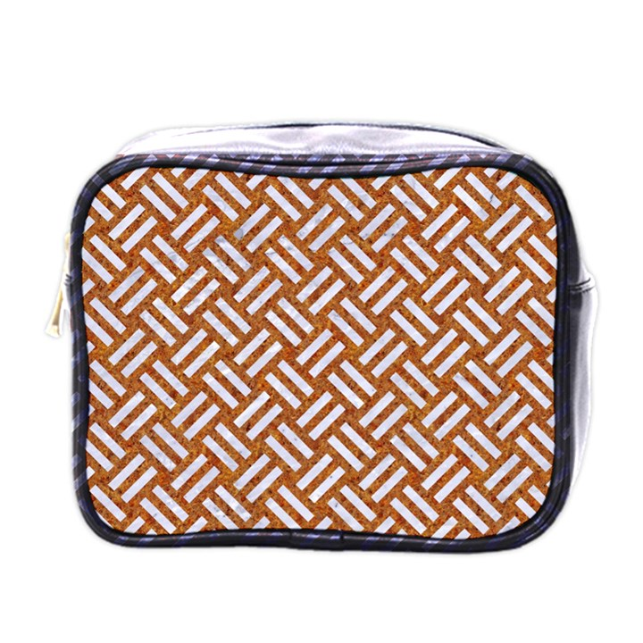 WOVEN2 WHITE MARBLE & RUSTED METAL Mini Toiletries Bags