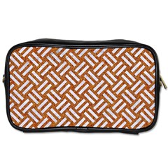 Woven2 White Marble & Rusted Metal Toiletries Bags