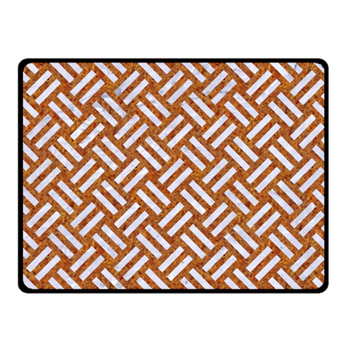 WOVEN2 WHITE MARBLE & RUSTED METAL Fleece Blanket (Small)