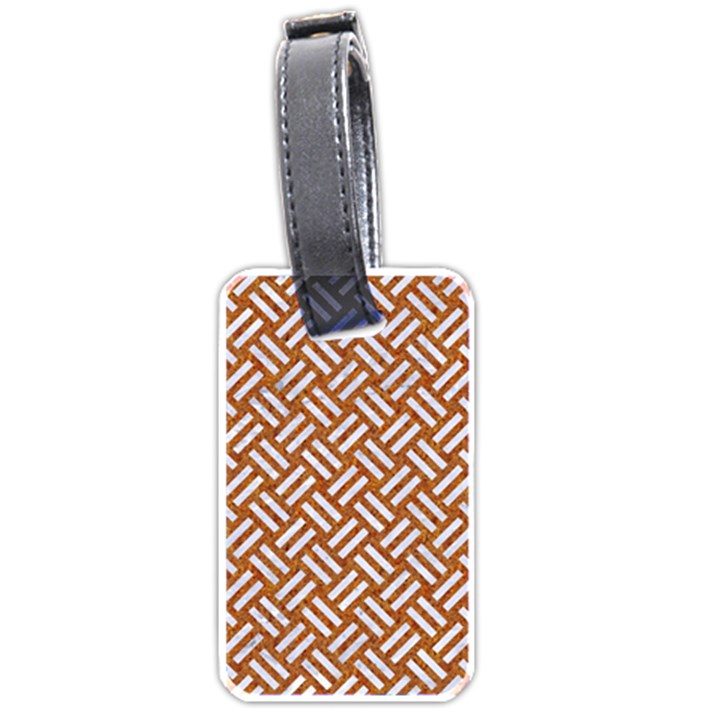 WOVEN2 WHITE MARBLE & RUSTED METAL Luggage Tags (One Side)