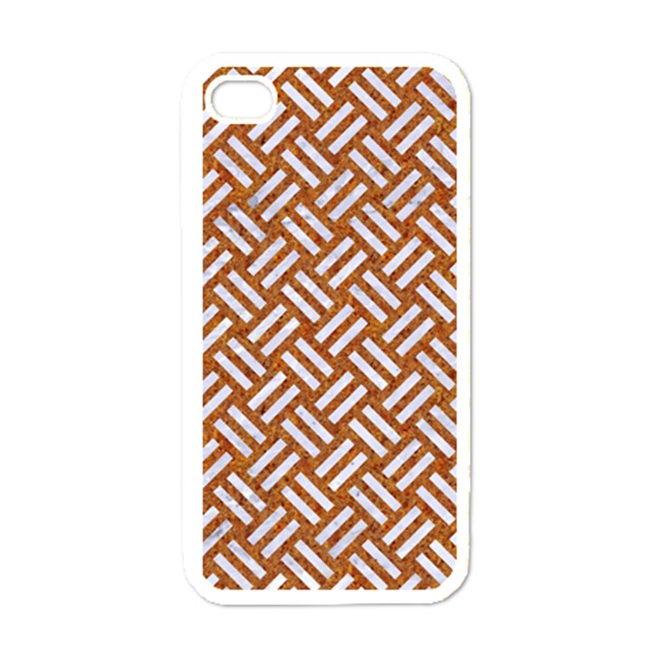WOVEN2 WHITE MARBLE & RUSTED METAL Apple iPhone 4 Case (White)