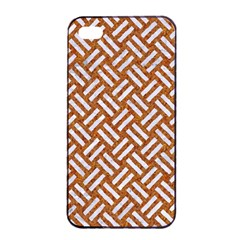 Woven2 White Marble & Rusted Metal Apple Iphone 4/4s Seamless Case (black)