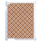 WOVEN2 WHITE MARBLE & RUSTED METAL Apple iPad 2 Case (White) Front