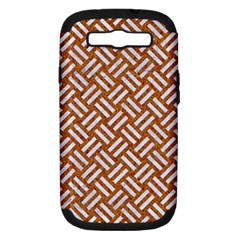 Woven2 White Marble & Rusted Metal Samsung Galaxy S Iii Hardshell Case (pc+silicone)