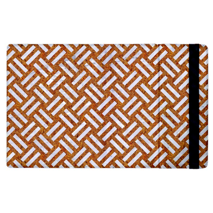 WOVEN2 WHITE MARBLE & RUSTED METAL Apple iPad 3/4 Flip Case
