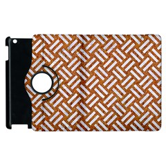 Woven2 White Marble & Rusted Metal Apple Ipad 2 Flip 360 Case by trendistuff