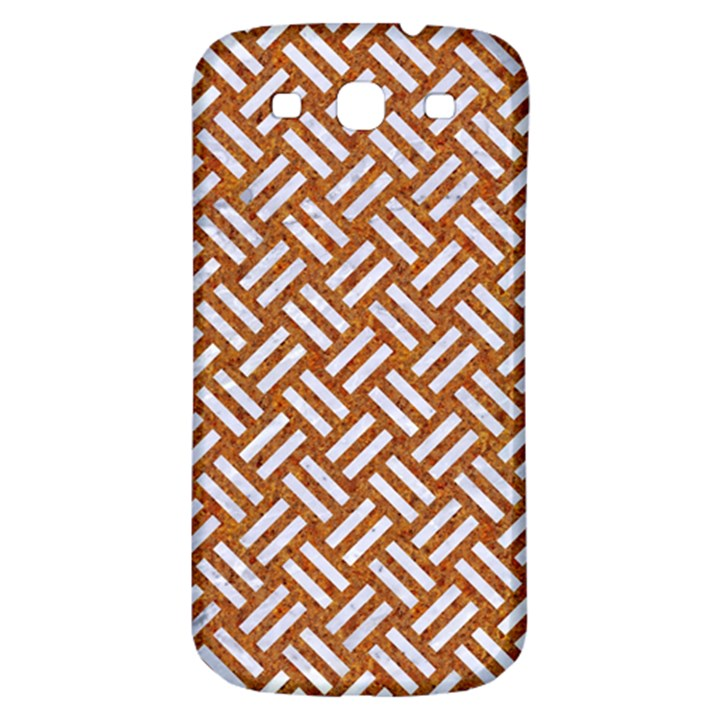 WOVEN2 WHITE MARBLE & RUSTED METAL Samsung Galaxy S3 S III Classic Hardshell Back Case