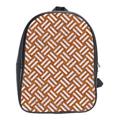Woven2 White Marble & Rusted Metal School Bag (xl)