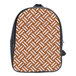 WOVEN2 WHITE MARBLE & RUSTED METAL School Bag (XL) Front