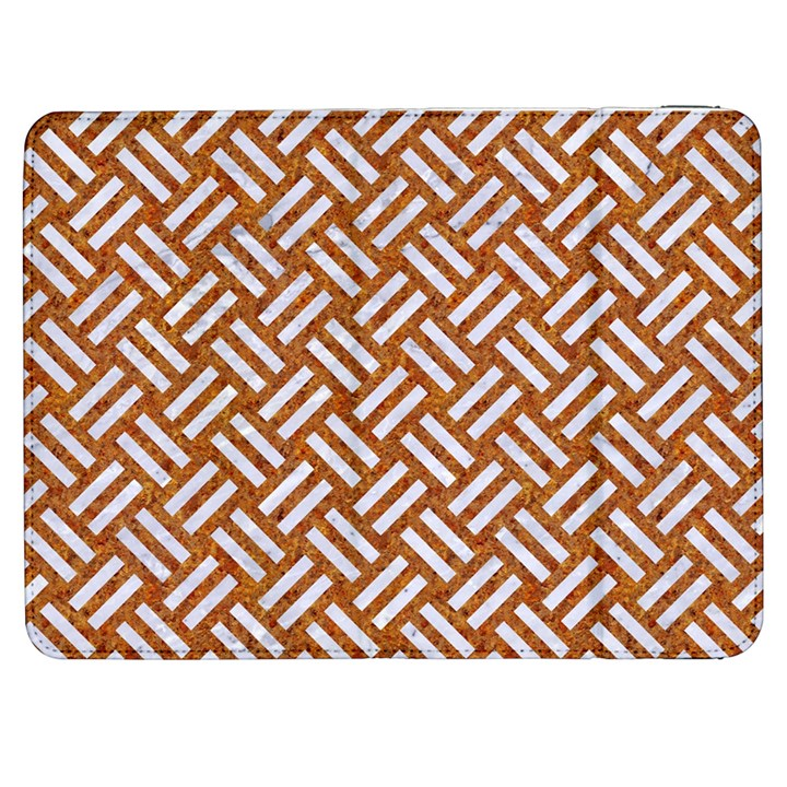 WOVEN2 WHITE MARBLE & RUSTED METAL Samsung Galaxy Tab 7  P1000 Flip Case