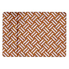 Woven2 White Marble & Rusted Metal Samsung Galaxy Tab 10 1  P7500 Flip Case