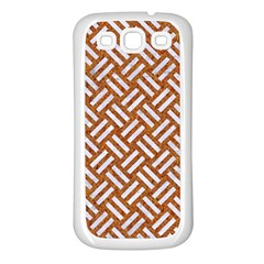 Woven2 White Marble & Rusted Metal Samsung Galaxy S3 Back Case (white)