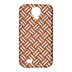 Woven2 White Marble & Rusted Metal Samsung Galaxy S4 Classic Hardshell Case (pc+silicone) by trendistuff