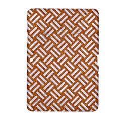 Woven2 White Marble & Rusted Metal Samsung Galaxy Tab 2 (10 1 ) P5100 Hardshell Case  by trendistuff