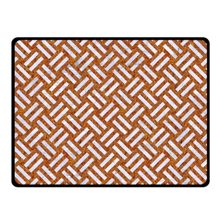 WOVEN2 WHITE MARBLE & RUSTED METAL Double Sided Fleece Blanket (Small)